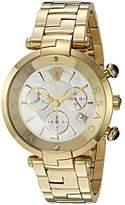 Versace 'Rêvive Chrono' Swiss Quartz Stainless Steel Casual Watch, Color:Two Tone (Model: VAJ060016)
