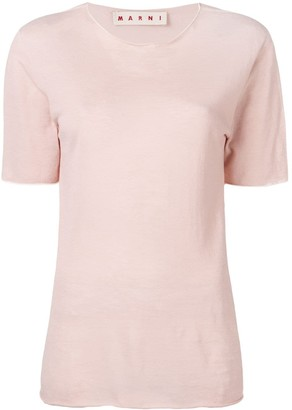 Marni raw hem T-shirt