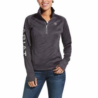 Ariat Tek Team Womens 1/2 Zip Sweatshirt - Periscope Heather: Large