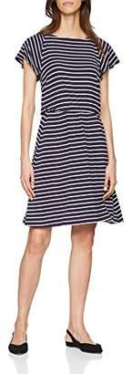 S'Oliver Women's 14.804.82.7701 Dress, (Dark Steel Blue Struc.Str 58H2), 6