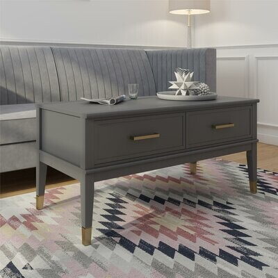 Thumbnail for your product : CosmoLiving by Cosmopolitan Westerleigh Lift Top 4 Legs Coffee Table Color: Graphite Gray