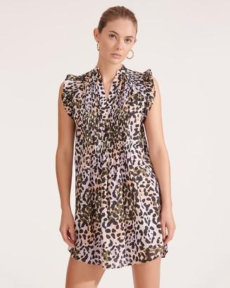 Veronica Beard Marieta Leopard Cover-Up Dress
