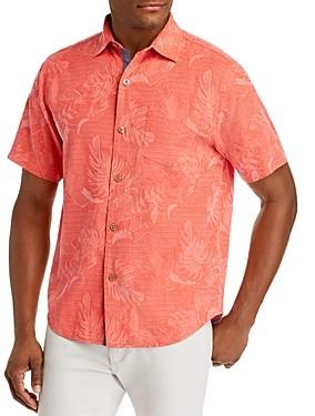Tommy Bahama Lahaina Leaves Regular Fit Short-Sleeve Silk Shirt