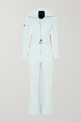 Cordova Signature Over The Boot Belted Striped Ski Suit - Blue