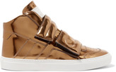 MM6 MAISON MARGIELA Metallic leather high-top sneakers