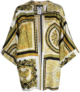 Versace Baroque-Print Silk Robe