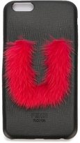 Fendi 'ABCover U' iPhone 6 hard case - women - Calf Leather/Mink Fur - One Size