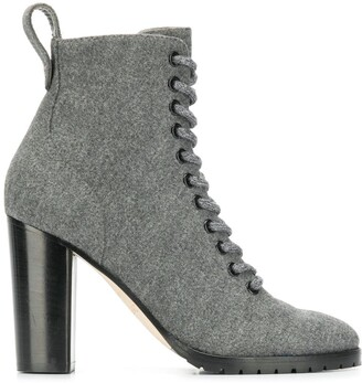 Jimmy Choo Block Heel Ankle Boots