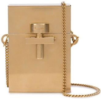 Oscar de la Renta Alibi mini metal bag