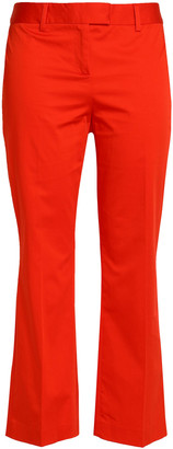 Boutique Moschino Cropped Cotton-blend Kick-flare Pants