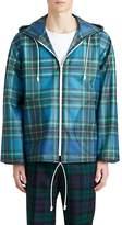 Burberry Men's Tartan Tech-Taffeta K-Way Jacket