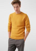 MANGO MAN Textured Wool-Blend Sweater