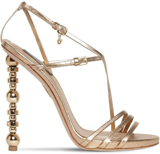 DSQUARED2 120mm Metallic Leather Sandals