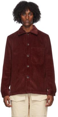 Barena Red Corduroy Overshirt Jacket