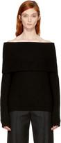 MSGM Black Off-the-shoulder Sweater