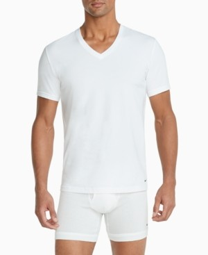 Nike Men's 2-Pack Everyday Cotton Stretch V-Neck Undershirts