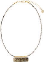 Nakamol Beaded Necklace w/ Rectangular Labradorite Pendant