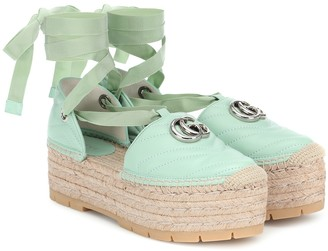 Gucci Double G leather espadrille sandals