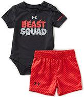 Under Armour Baby Boys Newborn-12 Months Beast Squad Bodysuit & Shorts Set