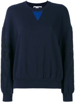 Stella McCartney leaf detail sweatshirt - women - Cotton - 40