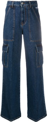 MSGM Wide-Leg Cargo Jeans