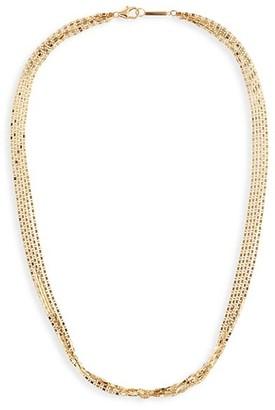 Lana Malibu 14K Yellow Gold 5-Strand Chain Choker