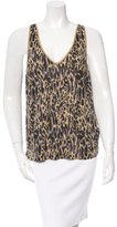 Dries Van Noten Abstract Print Sleeveless Top