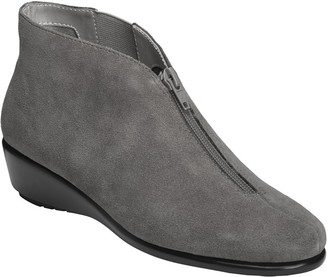 Aerosoles Stich N Turn Leather Wedge Booties -Allowance