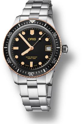 Oris Men's 36mm Diver Bracelet Watch w/ Bronze, Black