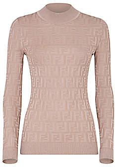 Fendi Women's FF Long-Sleeve Knit