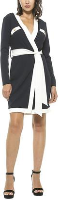 Alexia Admor Contrast Asymmetrical Wrap Mini Dress