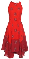 A.L.C. Elisa crest-print silk-crepe dress