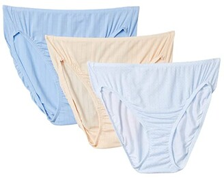Jockey Supersoft Breathe French Cut Pack (Geo Line/Barely Peach/Watercolor Blue) Women's Underwear