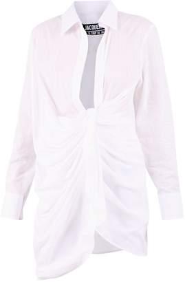 Jacquemus La Robe Bahia Asymmetric Dress