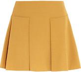 See by Chloe Pleated Cloqué Mini Skirt - Marigold