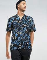 Kiomi Short Sleeve Shirt in Regular Fit with All Over Print
