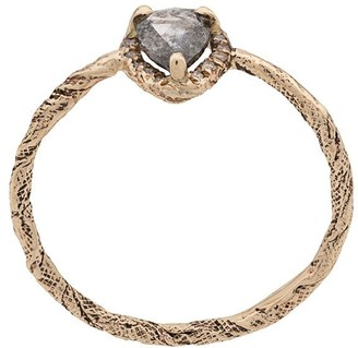 Niza Huang 9kt Gold Grey Pear Cut Diamond Ring