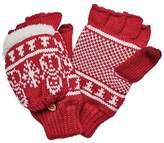 San Diego Hat Company Women's Snowman Pattern Pop Over Fingerless Glove KNG3476