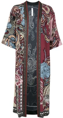 Camilla Open Front Paisley Print Cardigan
