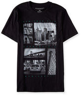 Aeropostale Mens New York City Block Image Graphic T Shirt Black
