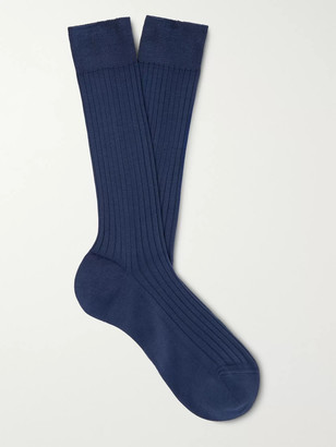 Charvet Ribbed Cotton Socks