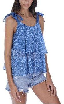 Allison New York Women's Petite Floral Tiered Tank