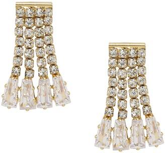 Ettika Crystal Fringe Stud Earrings