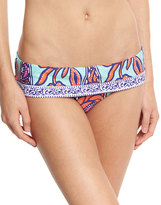 Trina Turk Balinese Batik Fold-Over Swim Bottom, Multicolor