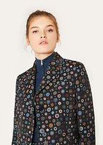 Paul Smith Women's Black 'Tudor Rose' Jacquard Epsom Coat