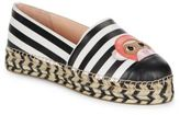 Kate Spade Lincoln Espadrille Platform Leather Monkey Flats