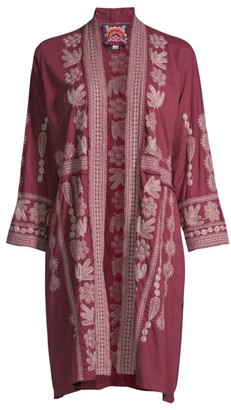 Johnny Was Yasmine Embroidered Duster Cardigan