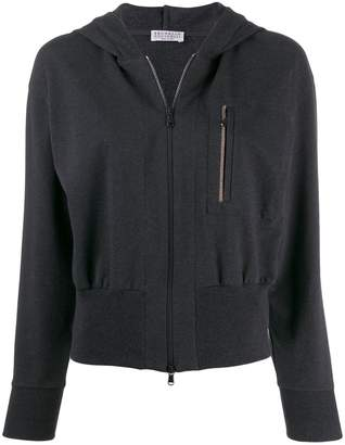 Brunello Cucinelli zip front hooded jacket