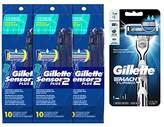 Gillette Gillete Sensor2 Plus Disposable razor 10 count with Mach3 Trubo Razor