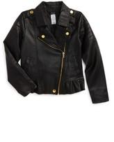Bebe Girl's Faux Leather Moto Jacket